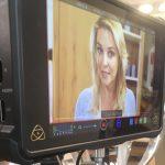 Christine Reiler bei den Dreharbeiten zu Gesund und Munter